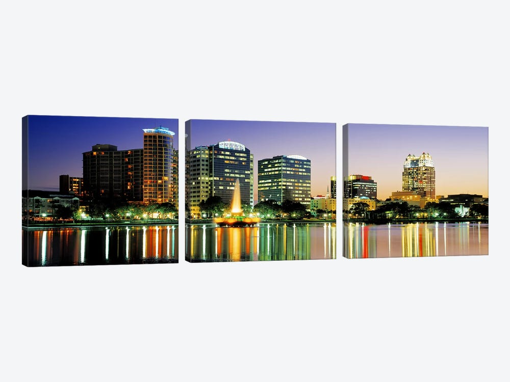 Skyline At Dusk, Orlando, Florida, USA by Panoramic Images 3-piece Art Print