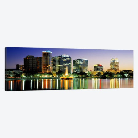 Skyline At Dusk, Orlando, Florida, USA Canvas Print #PIM3466} by Panoramic Images Canvas Print