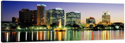 Skyline At Dusk, Orlando, Florida, USA Canvas Art Print
