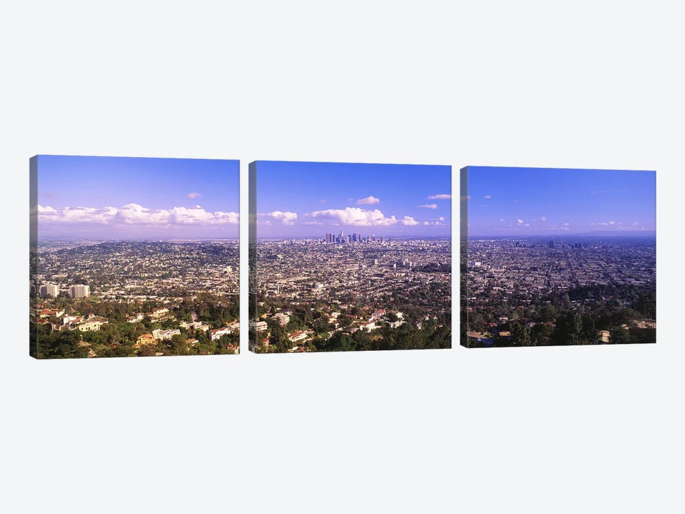 Cityscape, Los Angeles, California, USA by Panoramic Images 3-piece Canvas Print