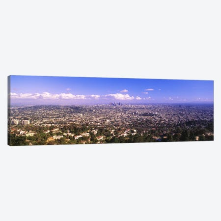 Cityscape, Los Angeles, California, USA 3-Piece Canvas #PIM3468} by Panoramic Images Canvas Wall Art