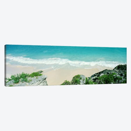 A Receding Surf, Bermuda Canvas Print #PIM3469} by Panoramic Images Canvas Art