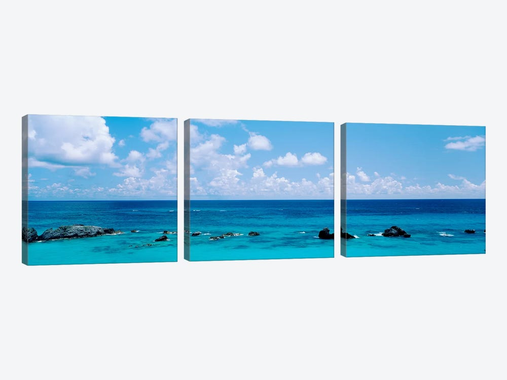 A Cloudy Day Over The Atlantic Ocean Near Bermuda by Panoramic Images 3-piece Canvas Artwork