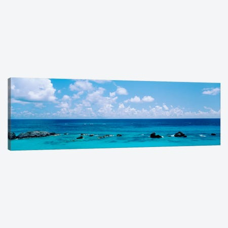 A Cloudy Day Over The Atlantic Ocean Near Bermuda 3-Piece Canvas #PIM3470} by Panoramic Images Canvas Art Print