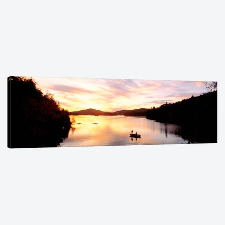 Sunset Saranac Lake Franklin Co Adirondack Mtns NY USA Canvas Print #PIM347} by Panoramic Images Canvas Artwork