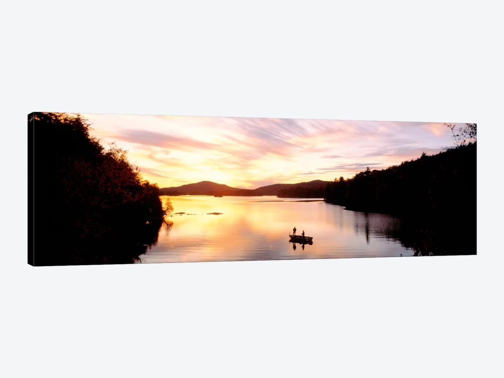 Sunset Saranac Lake Franklin Co Adirondack Mtns NY USA by Panoramic Images 1-piece Canvas Art Print