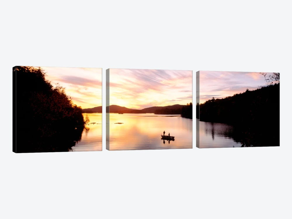 Sunset Saranac Lake Franklin Co Adirondack Mtns NY USA by Panoramic Images 3-piece Art Print