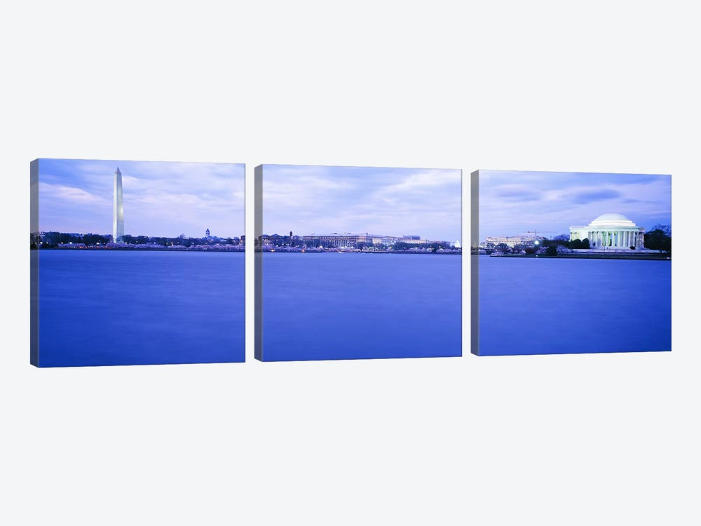 Tidal Basin Washington DC by Panoramic Images 3-piece Art Print