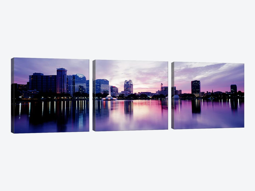 Lake Eola In Orlando, Orlando, Florida, USA by Panoramic Images 3-piece Canvas Wall Art