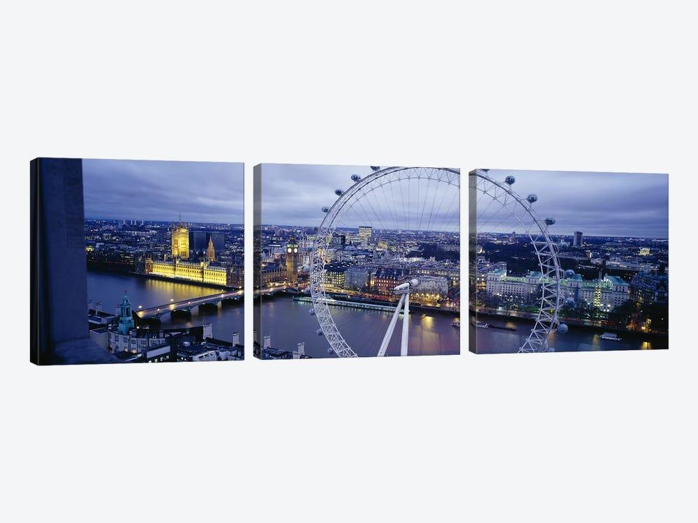 London Eye (Millennium Wheel), London, England, United Kingdom by Panoramic Images 3-piece Canvas Art