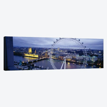 London Eye (Millennium Wheel), London, England, United Kingdom Canvas Print #PIM3485} by Panoramic Images Canvas Art Print
