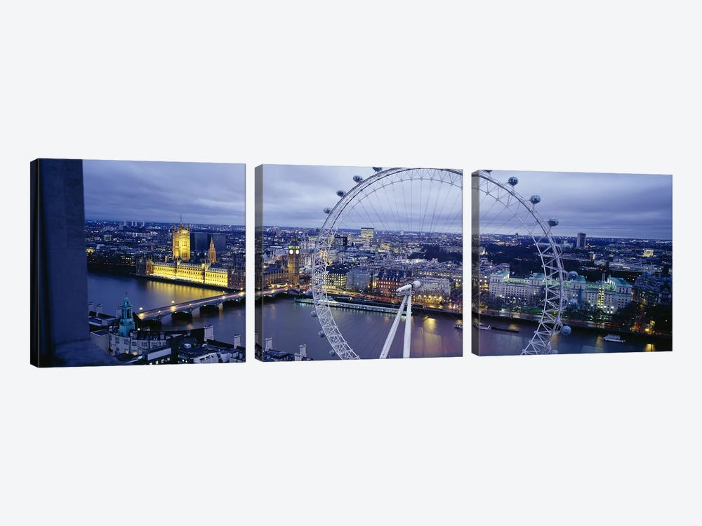 London Eye (Millennium Wheel), London, England, United Kingdom by Panoramic Images 3-piece Canvas Art