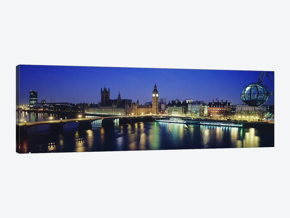 Palace Of Westminster At Night I, London, England, United Kingdom by Panoramic Images 1-piece Canvas Artwork