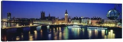 Palace Of Westminster At Night I, London, England, United Kingdom Canvas Art Print