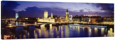 Palace Of Westminster At Night II, London, England, United Kingdom Canvas Art Print