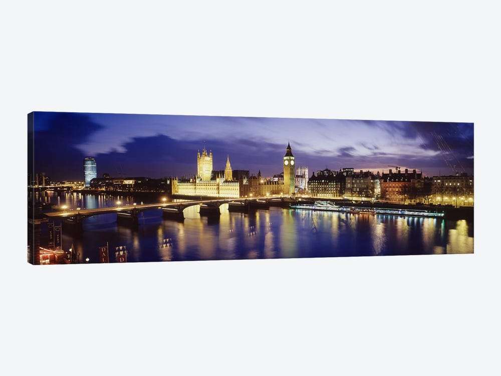 Palace Of Westminster At Night II, London, England, United Kingdom by Panoramic Images 1-piece Canvas Print