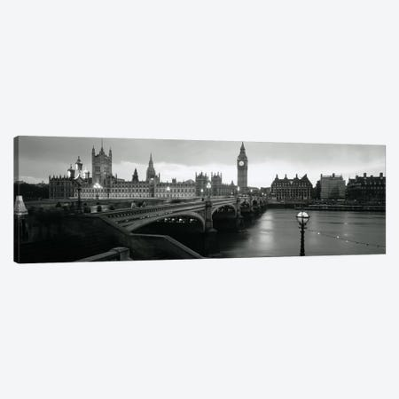 Westminster Bridge, London, England, United Kingdom Canvas Print #PIM3489} by Panoramic Images Canvas Wall Art