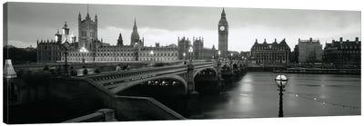 Westminster Bridge, London, England, United Kingdom Canvas Print #PIM3489