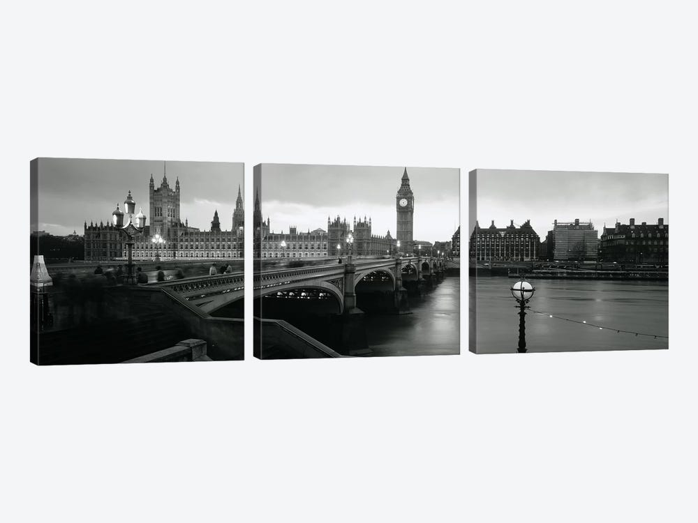 Westminster Bridge, London, England, United Kingdom by Panoramic Images 3-piece Canvas Wall Art