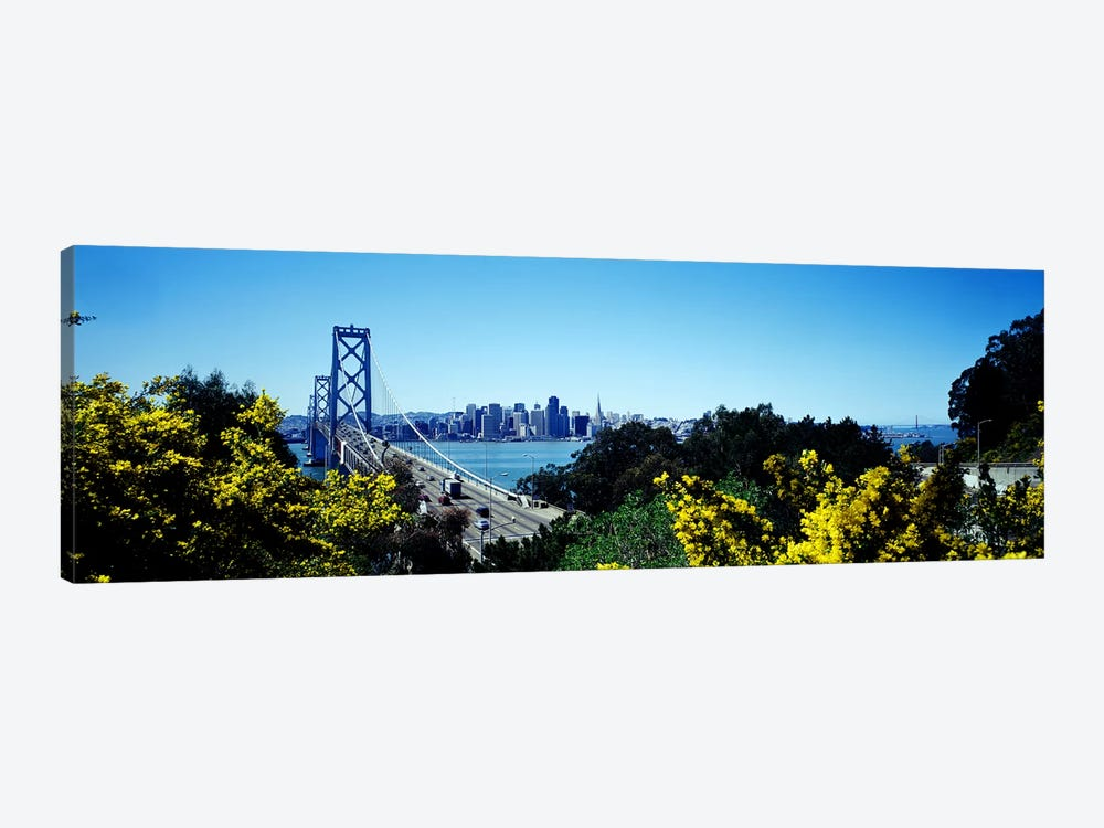 Bay Bridge In San Francisco, San Francisco, California, USA 1-piece Canvas Art
