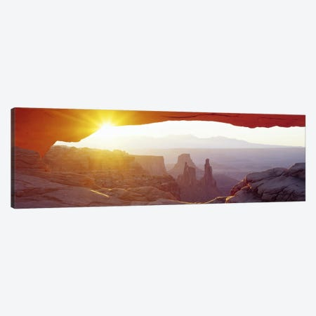 Sunrise View Through Mesa Arch, Canyonlands National Park, Utah, USA Canvas Print #PIM3493} by Panoramic Images Art Print