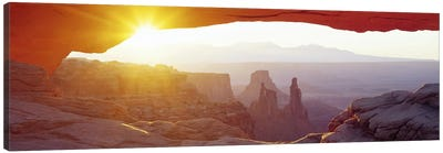 Sunrise View Through Mesa Arch, Canyonlands National Park, Utah, USA Canvas Print #PIM3493