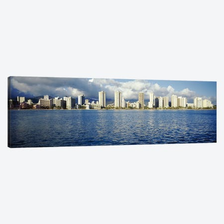 Buildings at the waterfront, Honolulu, Oahu, Hawaii, USA Canvas Print #PIM3496} by Panoramic Images Canvas Art