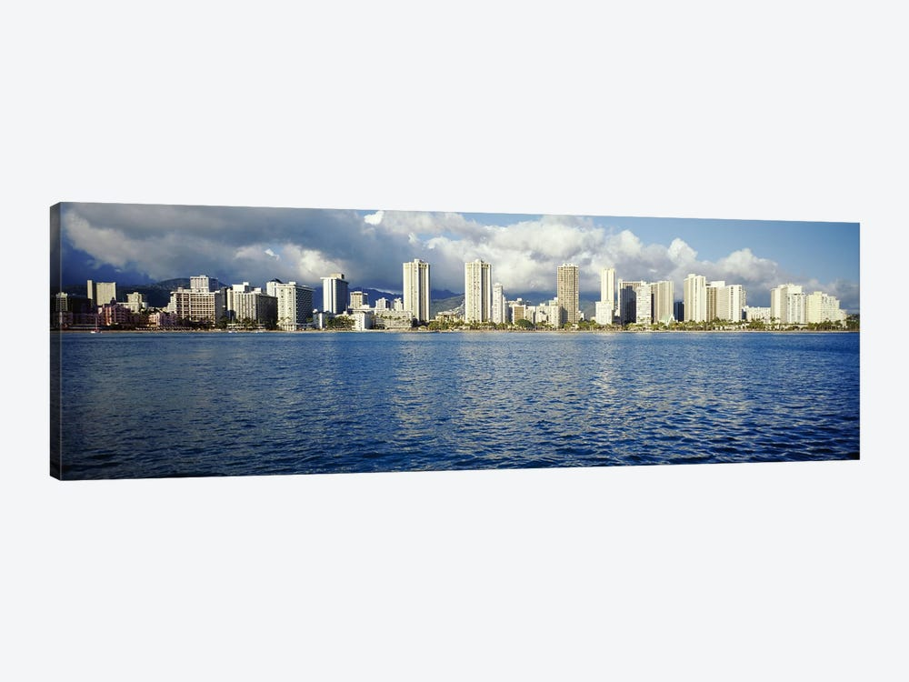 Buildings at the waterfront, Honolulu, Oahu, Hawaii, USA by Panoramic Images 1-piece Canvas Artwork