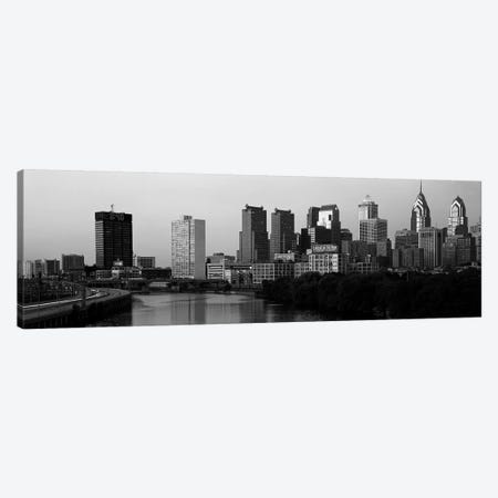 River passing through a citySchuylkill River, Philadelphia, Pennsylvania, USA Canvas Print #PIM3497} by Panoramic Images Canvas Artwork