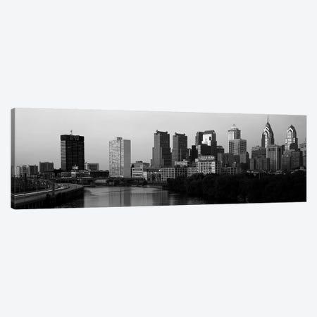 River passing through a citySchuylkill River, Philadelphia, Pennsylvania, USA Canvas Print #PIM3497} by Panoramic Images Canvas Artwork