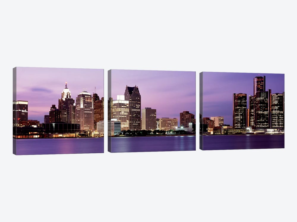 DetroitMichigan, USA by Panoramic Images 3-piece Canvas Artwork