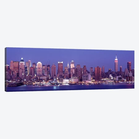 DuskWest Side, NYC, New York City, US Canvas Print #PIM3501} by Panoramic Images Canvas Print