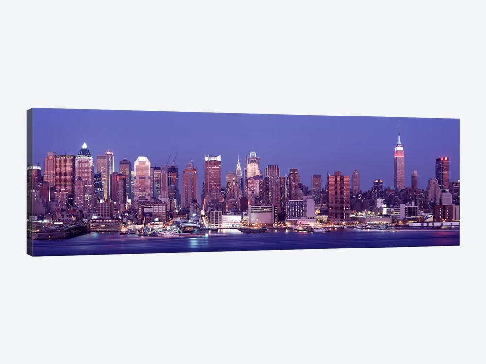 DuskWest Side, NYC, New York City, US by Panoramic Images 1-piece Canvas Art Print