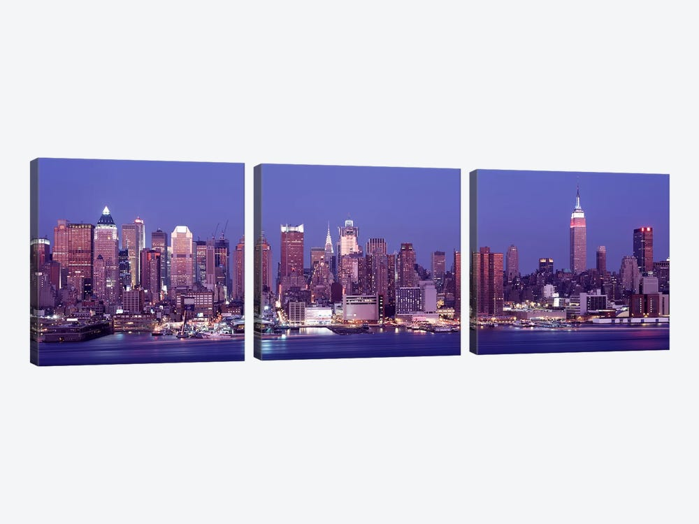 DuskWest Side, NYC, New York City, US by Panoramic Images 3-piece Canvas Print