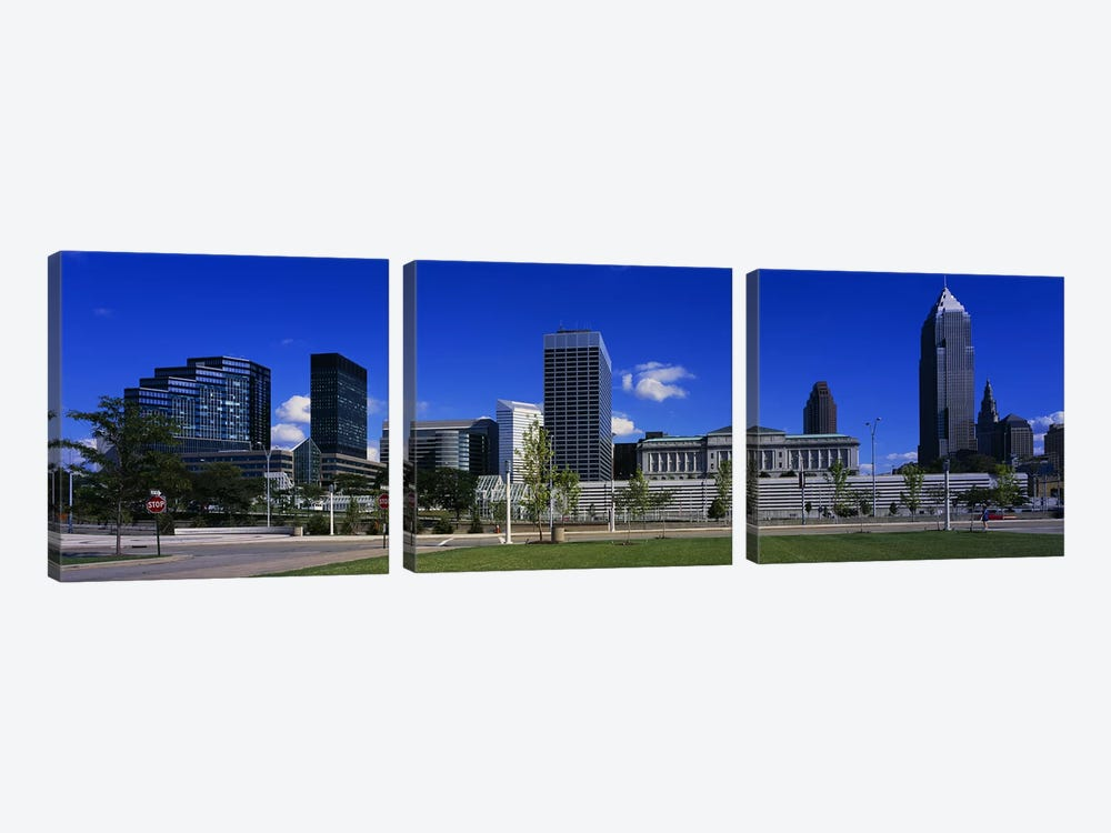Buildings In A CityCleveland, Ohio, USA by Panoramic Images 3-piece Canvas Art