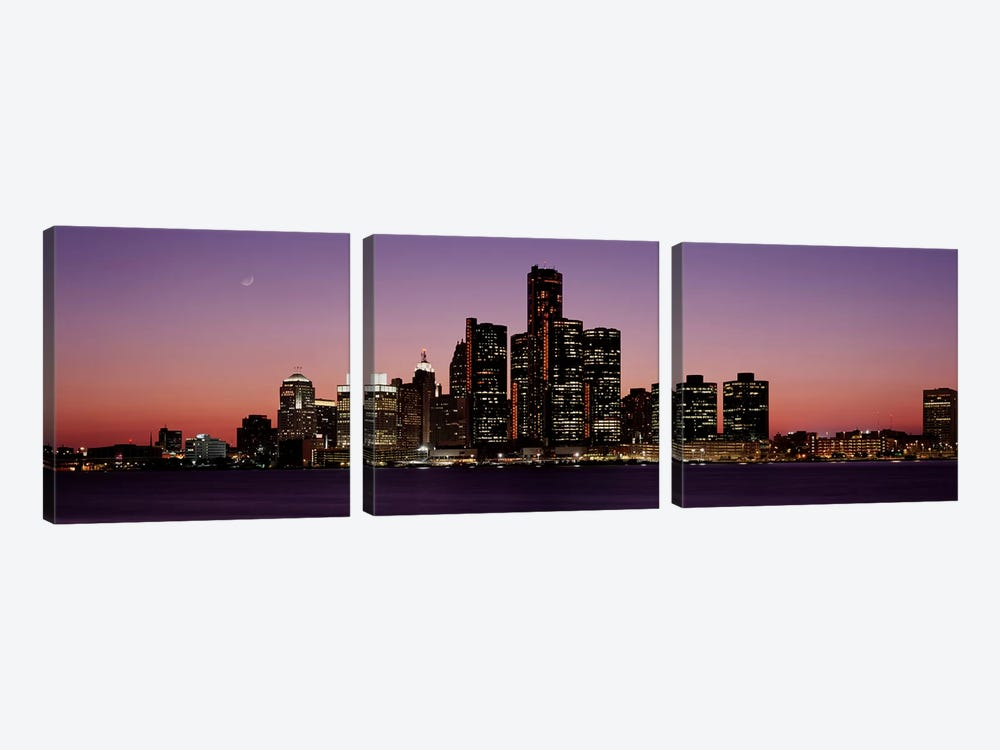 DetroitMichigan, USA by Panoramic Images 3-piece Canvas Art Print