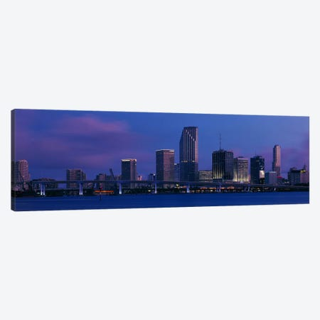 Buildings at the waterfront, Miami, Florida, USA Canvas Print #PIM3508} by Panoramic Images Canvas Art Print