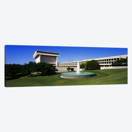 Fountain in front of a libraryLyndon Johnson Presidential Library & Museum, Austin, Texas, USA Canvas Print #PIM3509} by Panoramic Images Art Print
