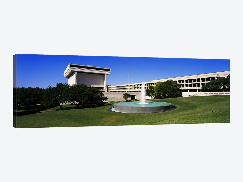 Fountain in front of a libraryLyndon Johnson Presidential Library & Museum, Austin, Texas, USA by Panoramic Images 1-piece Canvas Art Print
