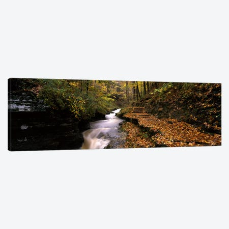 Gorge Trail, Buttermilk Falls State Park, Ithaca, New York, USA 3-Piece Canvas #PIM3513} by Panoramic Images Canvas Wall Art