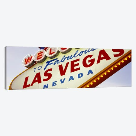 Close-Up Of A Welcome Sign, Las Vegas, Nevada, USA Canvas Print #PIM3519} by Panoramic Images Canvas Wall Art
