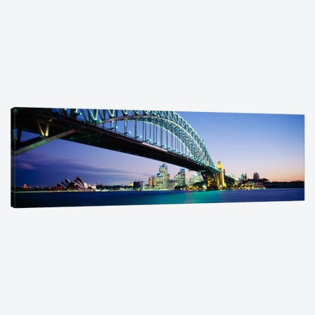 Low angle view of a bridge, Sydney Harbor Bridge, Sydney, New South Wales, Australia Canvas Print #PIM351} by Panoramic Images Canvas Artwork