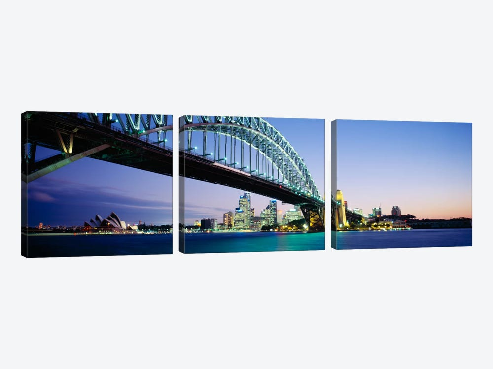 Low angle view of a bridge, Sydney Harbor Bridge, Sydney, New South Wales, Australia by Panoramic Images 3-piece Canvas Wall Art