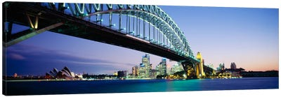 Low angle view of a bridge, Sydney Harbor Bridge, Sydney, New South Wales, Australia Canvas Art Print