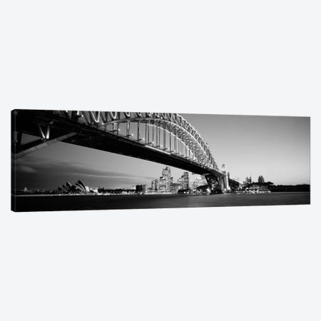 Low angle view of a bridge, Sydney Harbor Bridge, Sydney, New South Wales, Australia (black & white) Canvas Print #PIM351bw} by Panoramic Images Canvas Artwork