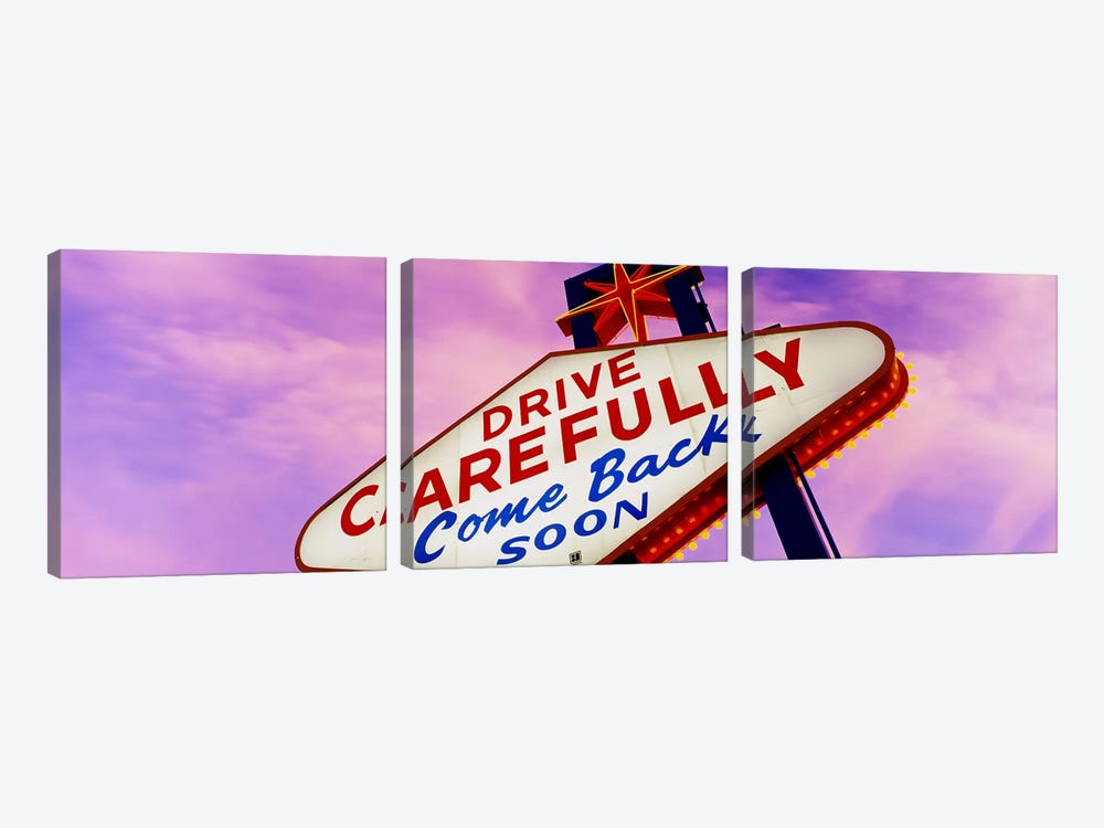 SignLas Vegas Nevada, USA by Panoramic Images 3-piece Canvas Artwork
