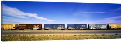 Boxcars Railroad CA Canvas Art Print