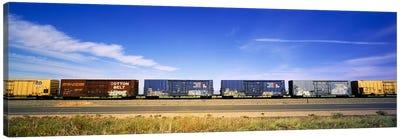 Boxcars Railroad CA Canvas Print #PIM3524