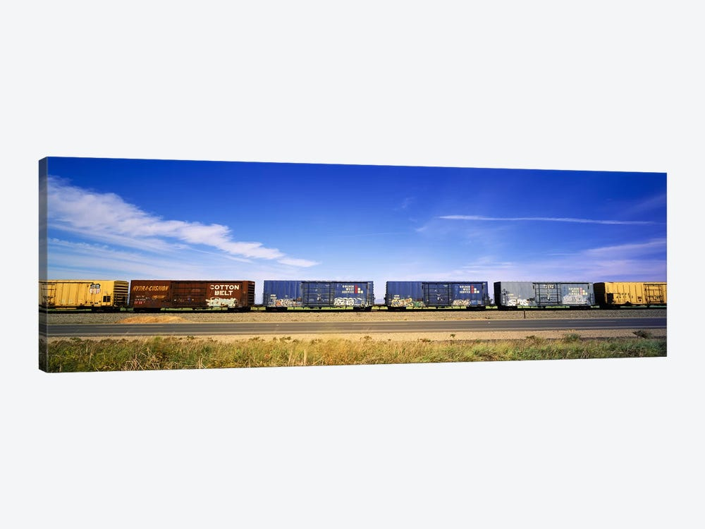 Boxcars Railroad CA by Panoramic Images 1-piece Canvas Wall Art