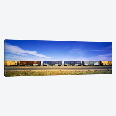 Boxcars Railroad CA Canvas Print #PIM3524} by Panoramic Images Canvas Art